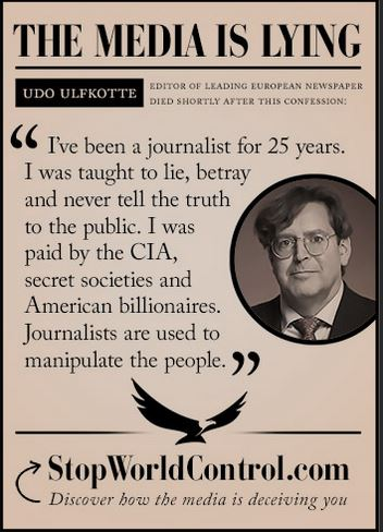 Paid by the CIA to LIE to the PUBLIC The MEDIA is LYING